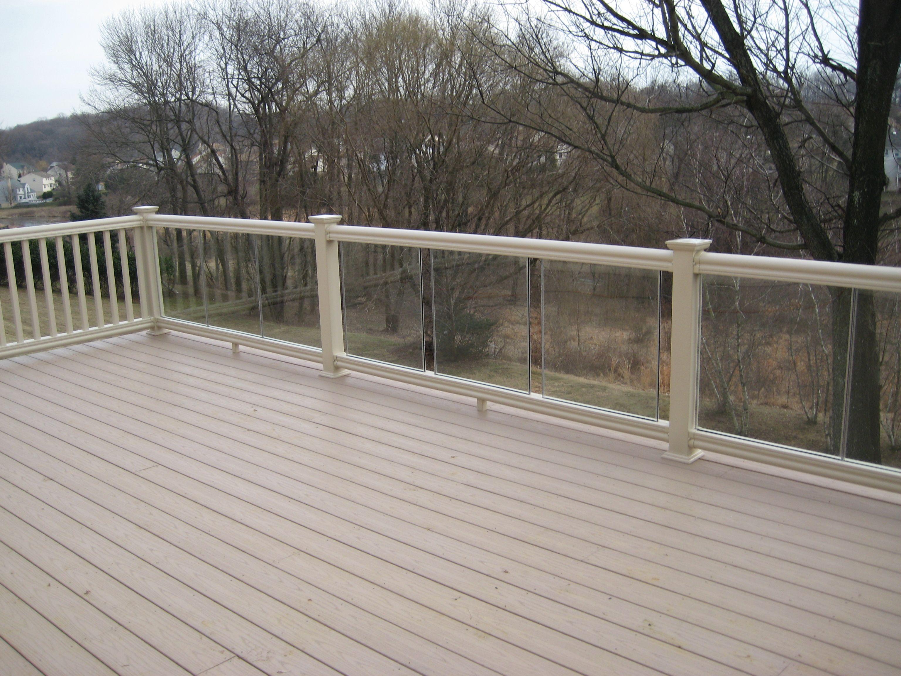 Composite Deck With Glass Rail Building A Deck Diy Deck