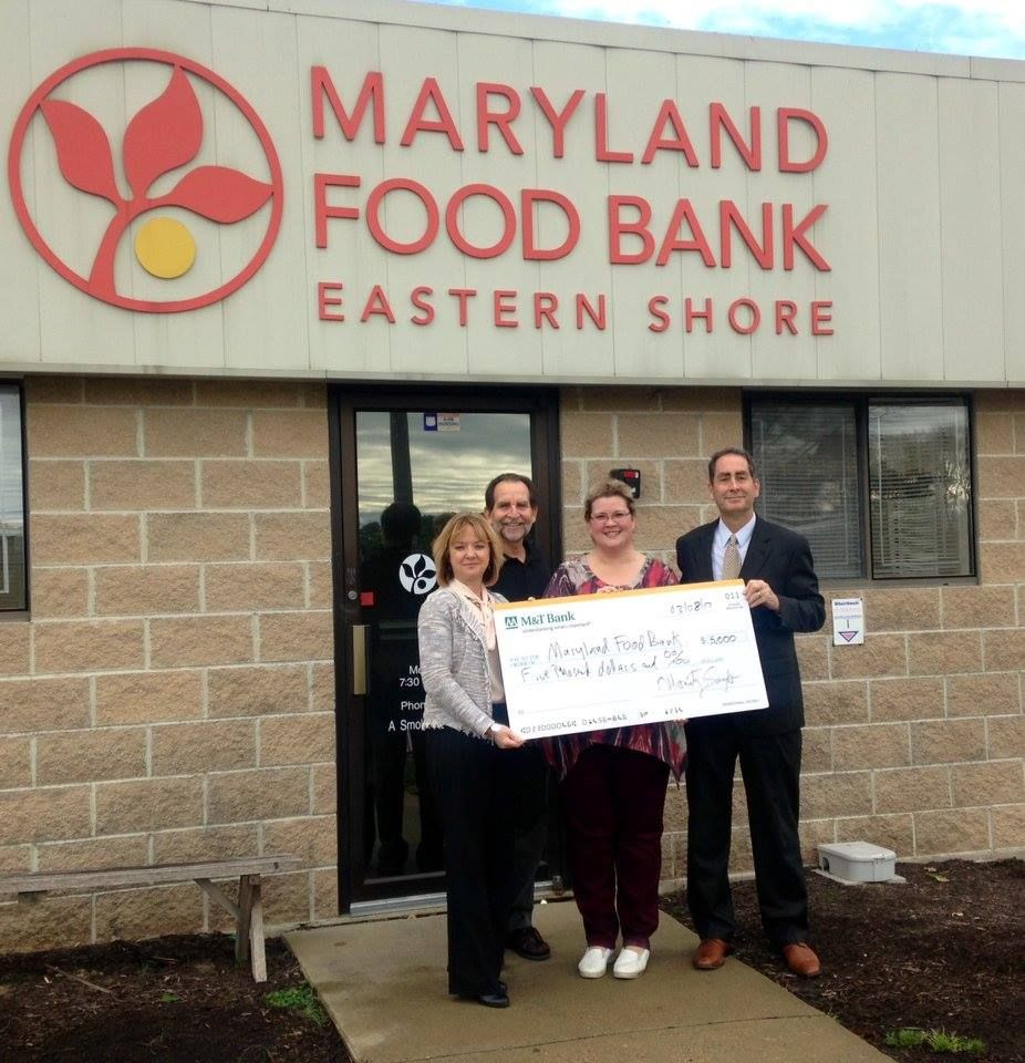 We are grateful to M&T Bank for your generous $5,000 donation to sponsor school pantries on the Eastern Shore!