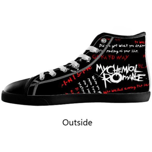 9bc5ef2ff6c63 Halocow Women's High top Canvas Shoes Custom My Chemical Romance ...