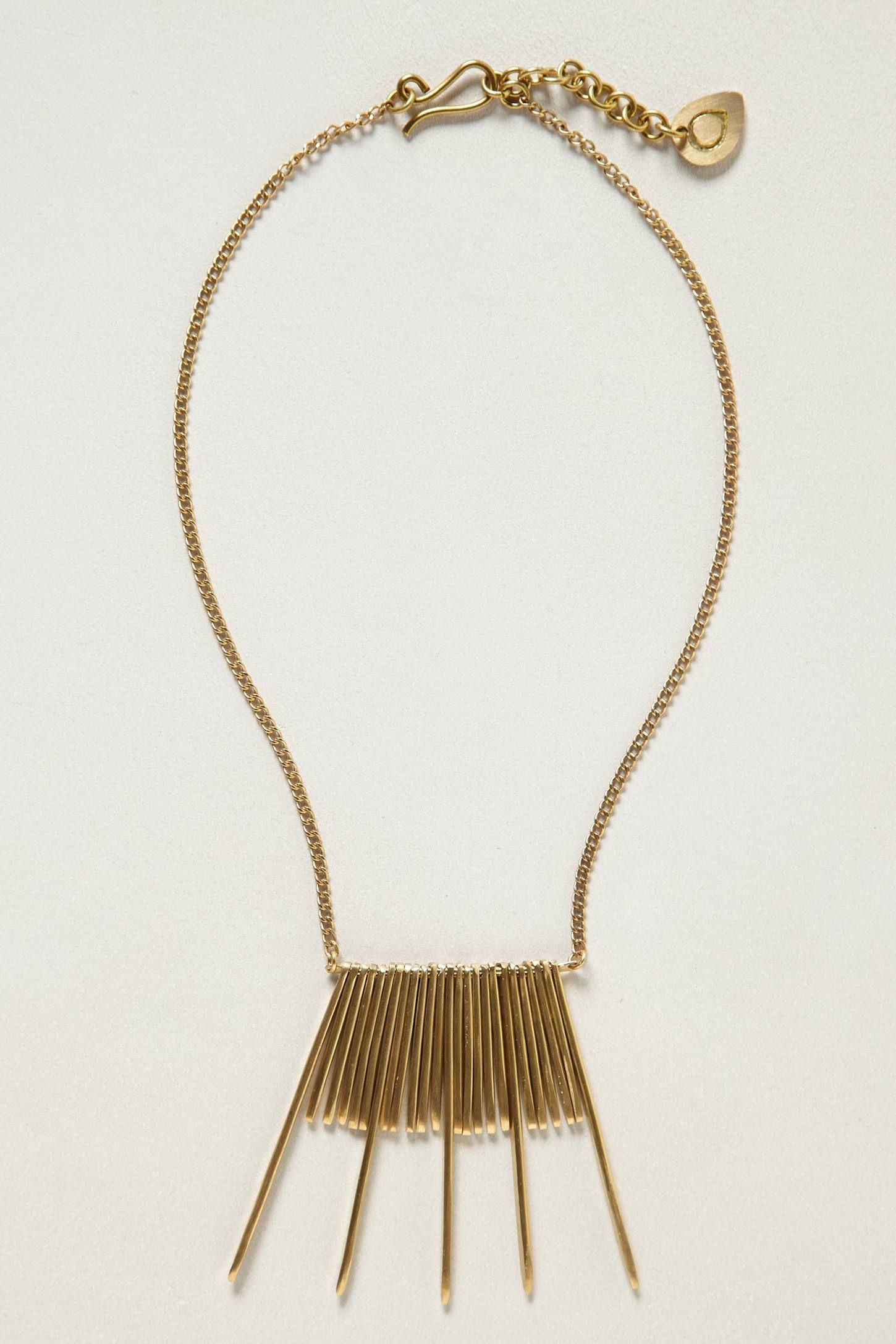 Brass Sweep Necklace - anthropologie.com