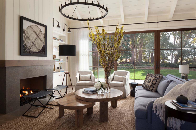 Rustikal chic Bauernhaus Stil Wohnung in Nord Kalifornien   Modernes bauernhaus wohnzimmer ...