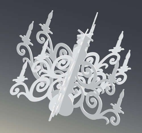 Large silhouette chandelier decoration the grandelier chandeliers diy giant dimensional silhouette chandelier mozeypictures Choice Image