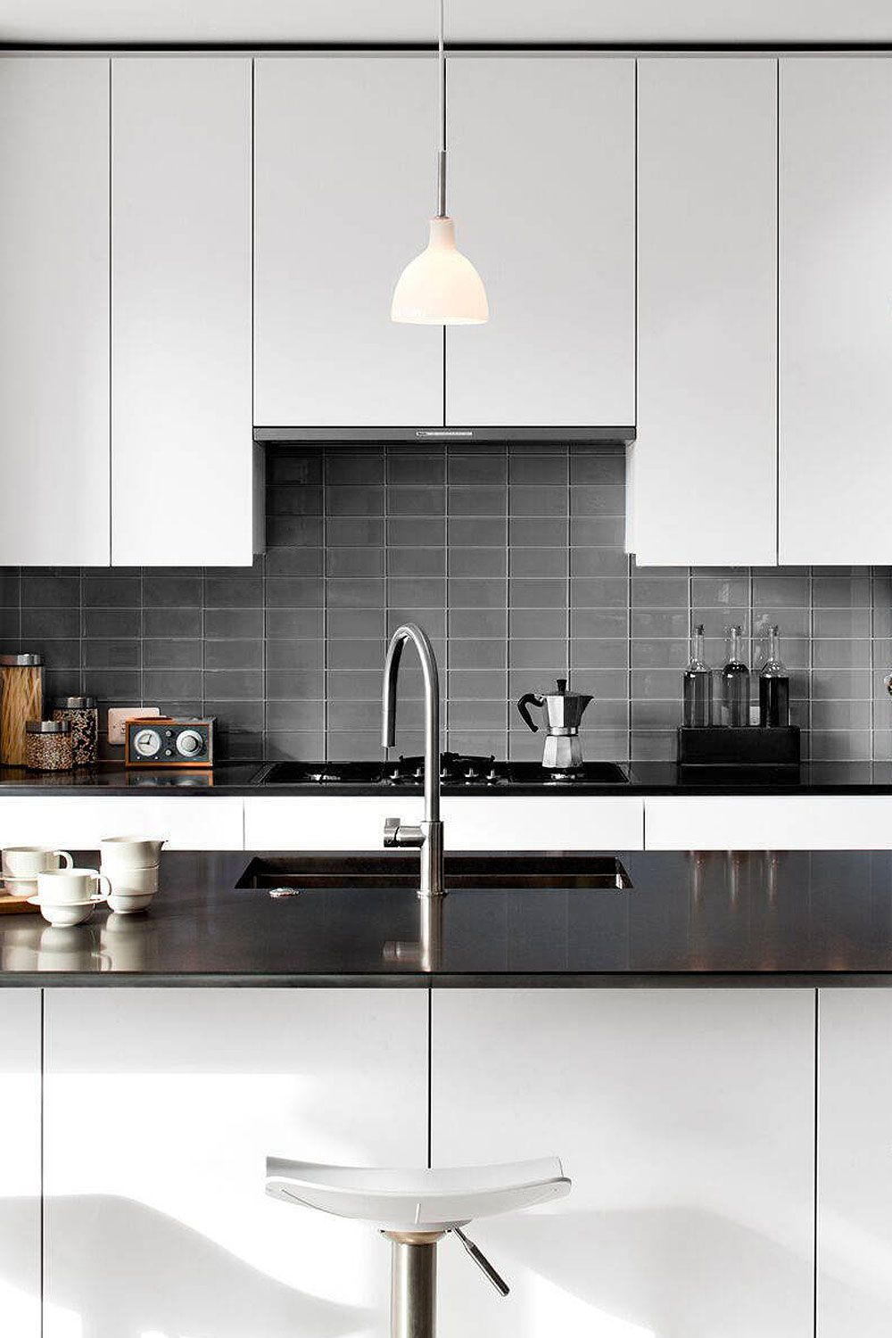 50+ Black Countertop Backsplash Ideas (Tile Designs, Tips ... on Backsplash Ideas For Black Countertops  id=97759
