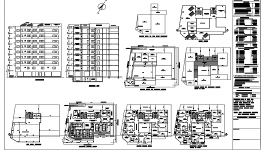 Autocad File Municipal Drawing Of Apartment With Detail In Dwg