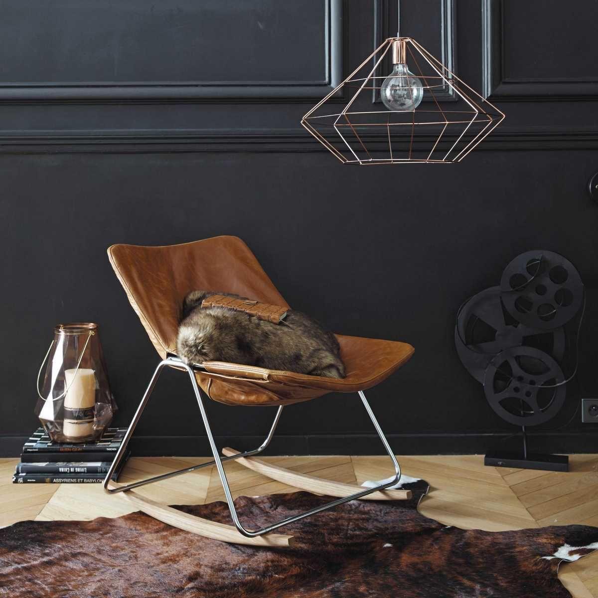 Frais Et Vintage La Nouvelle Collection Scandinave De Maisons Du - Fauteuil cuir design scandinave