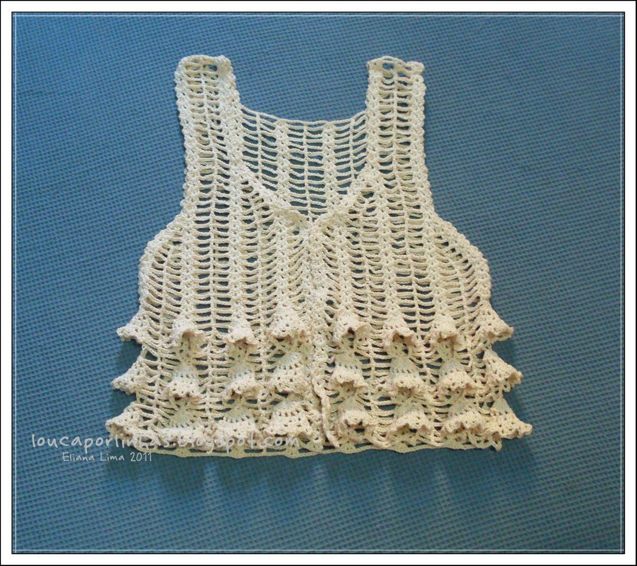 louca por linhas - crochet e patchwork: Colete Laila