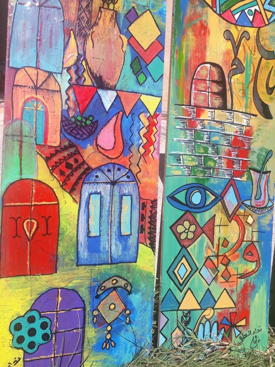 بغداديات شناشيل فن شعبي تراثي فلكلور Painting Art