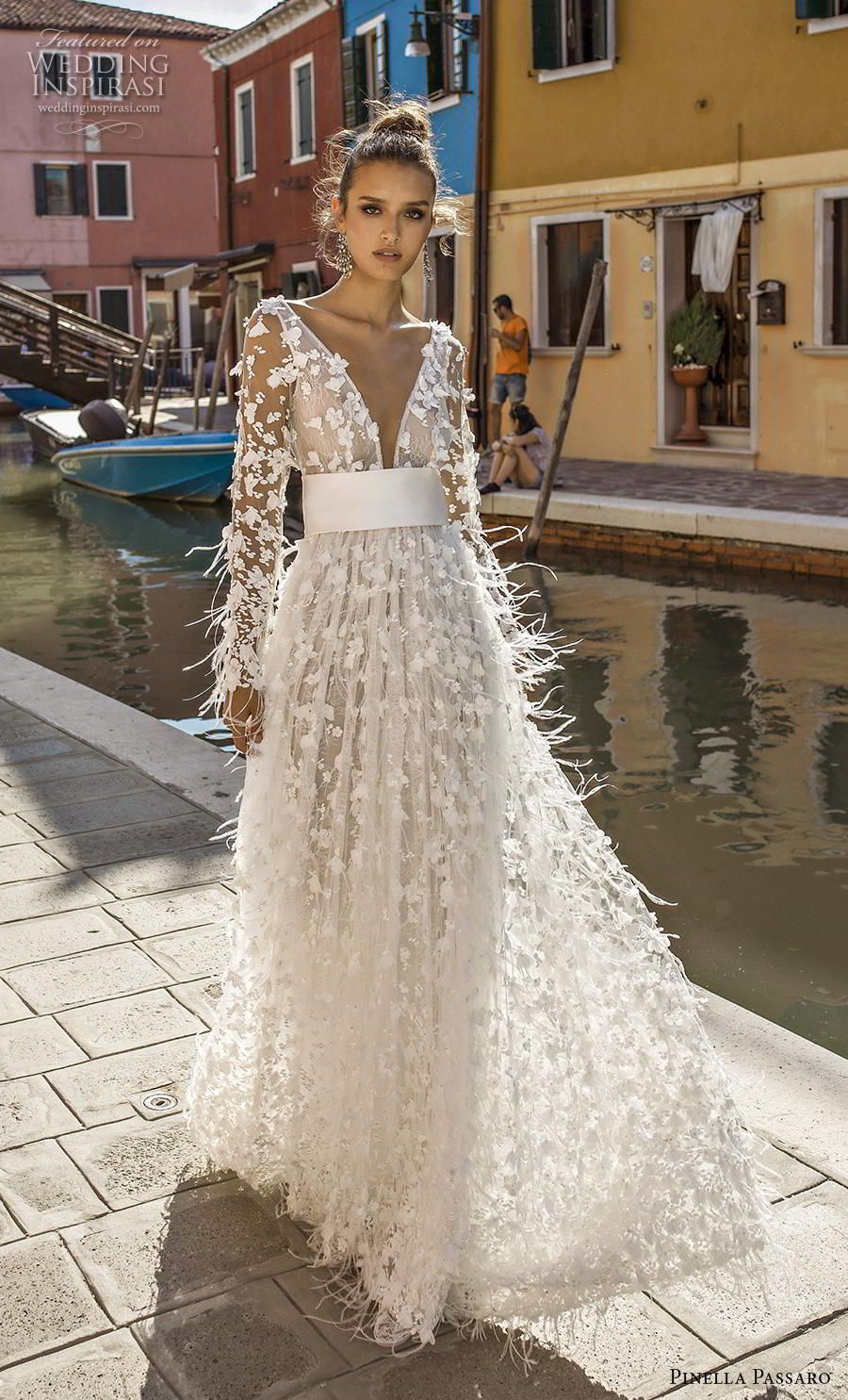 Pinella Passaro 2019 Wedding Dresses Wedding In Venice Bridal Collection Wedding Inspirasi Wedding Dress With Feathers Stunning Wedding Dresses Wedding Dresses [ 1485 x 900 Pixel ]