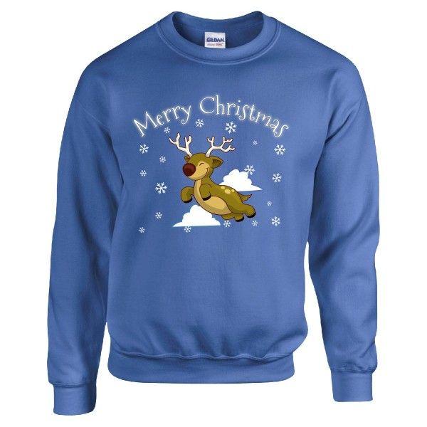 Merry Christmas Reindeers And Snowflakes Cute Xmas Gift