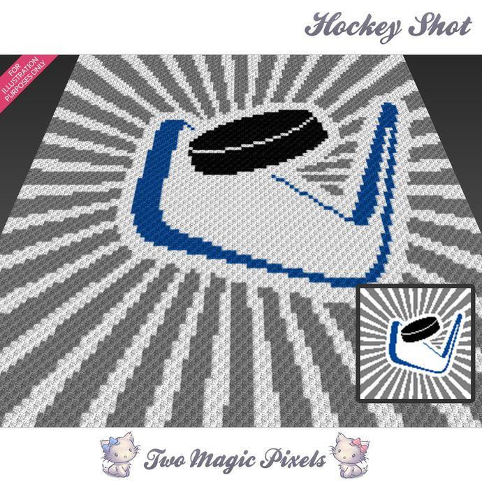 Hockey Shot crochet blanket pattern; c2c, knitting, cross stitch ...