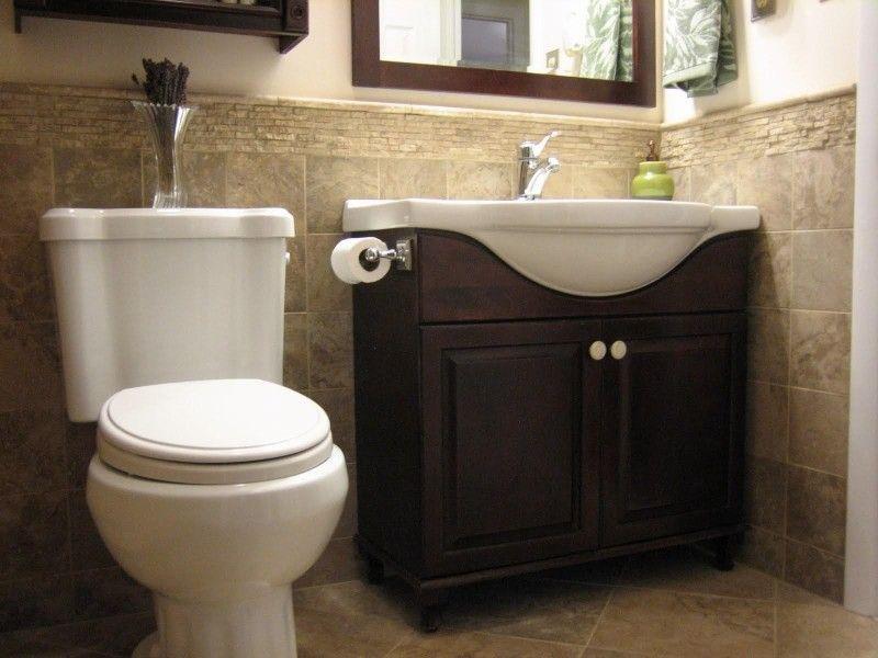 Half Bath Decor Ideas: Half Bathroom Tile Ideas Half Tiled Wall Home Design Ideas