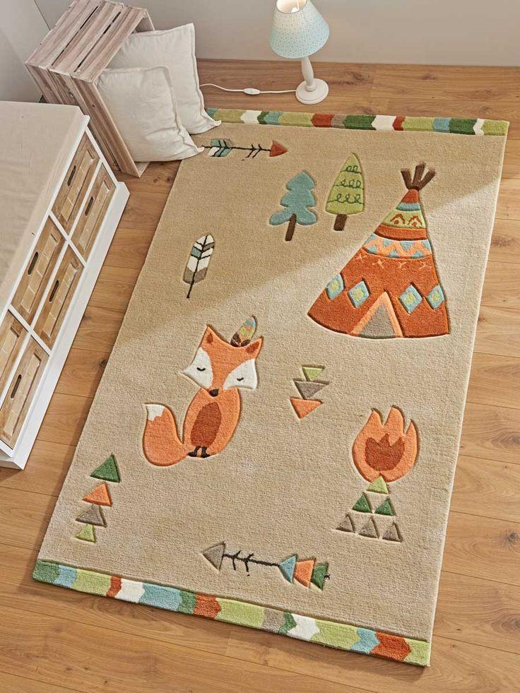 """Children's rug """"Wildlife"""" fox (mit Bildern"""