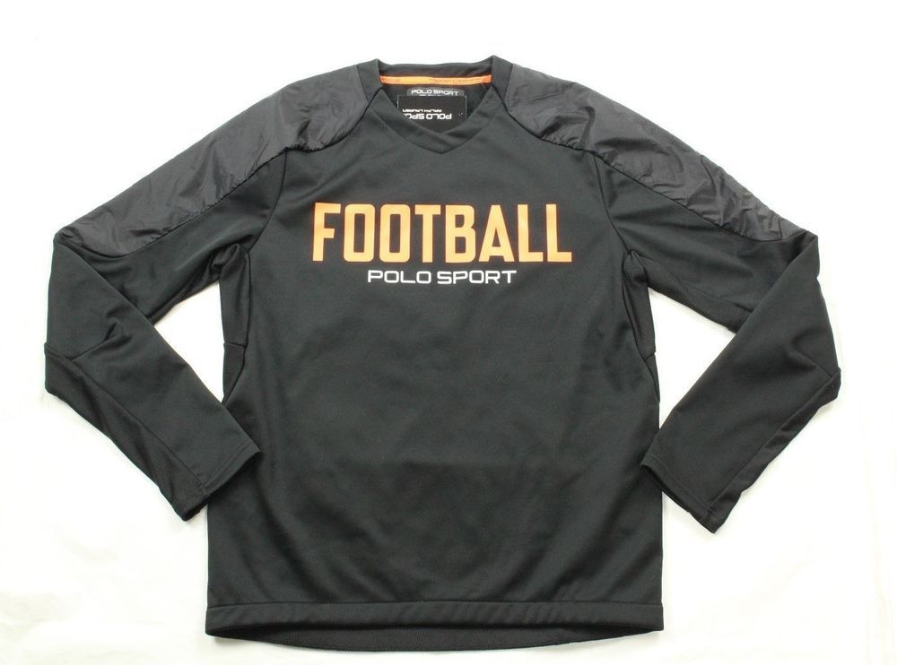 Polo Ralph Lauren Sport Football Men's Black Microfleece