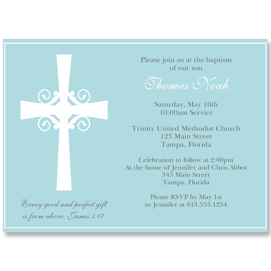 Silhouette Cross Blue Baptism Invitation Nvite Guests To Your Baptism With This First Communion Invitations Baptism Invitations Wedding Invitations Stationery
