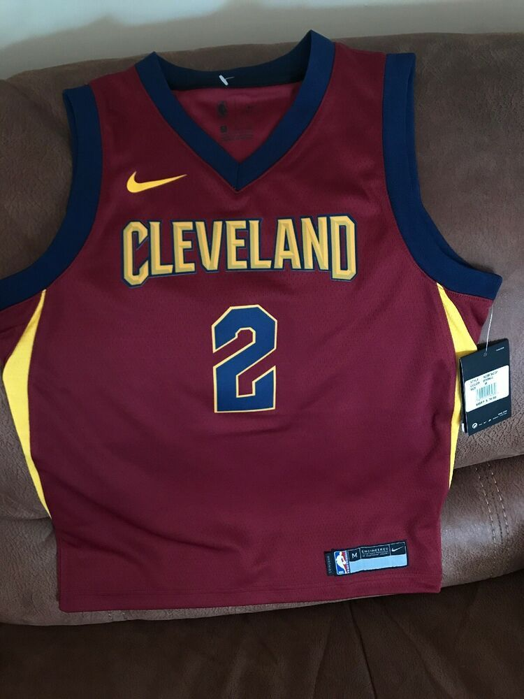 hot sale online 4f5e8 3991e Details about Nike Cleveland Cavaliers #2 Kyrie Irving Nba ...