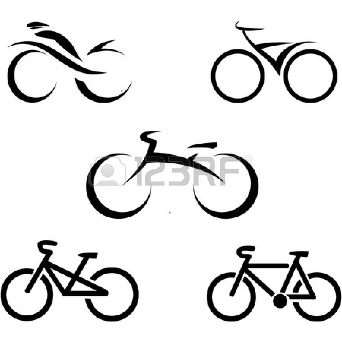 020d0f89c4c705 set of icons with stylized bikes