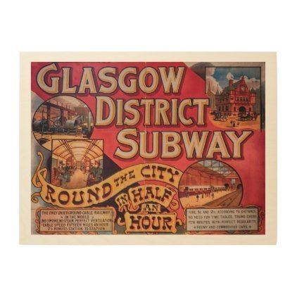 Glasgow Subway Poster | Zazzle.com | Glasgow subway ...