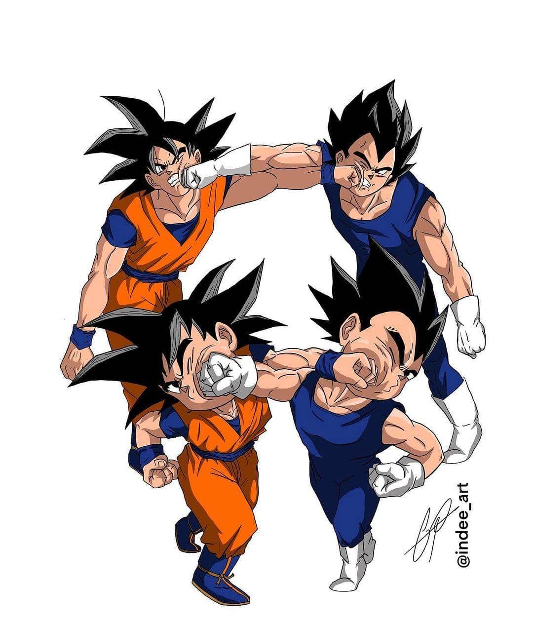 Eternal Rivalry By Artist Vegeta Teamvegeta Vegetafans Goku Dragonball