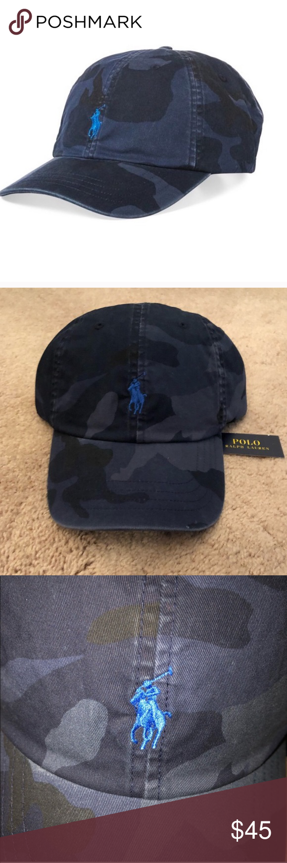 59a43447c Polo Ralph Lauren Cotton Camouflage Hat 💯% authentic Polo Ralph Lauren  classic cotton camouflage