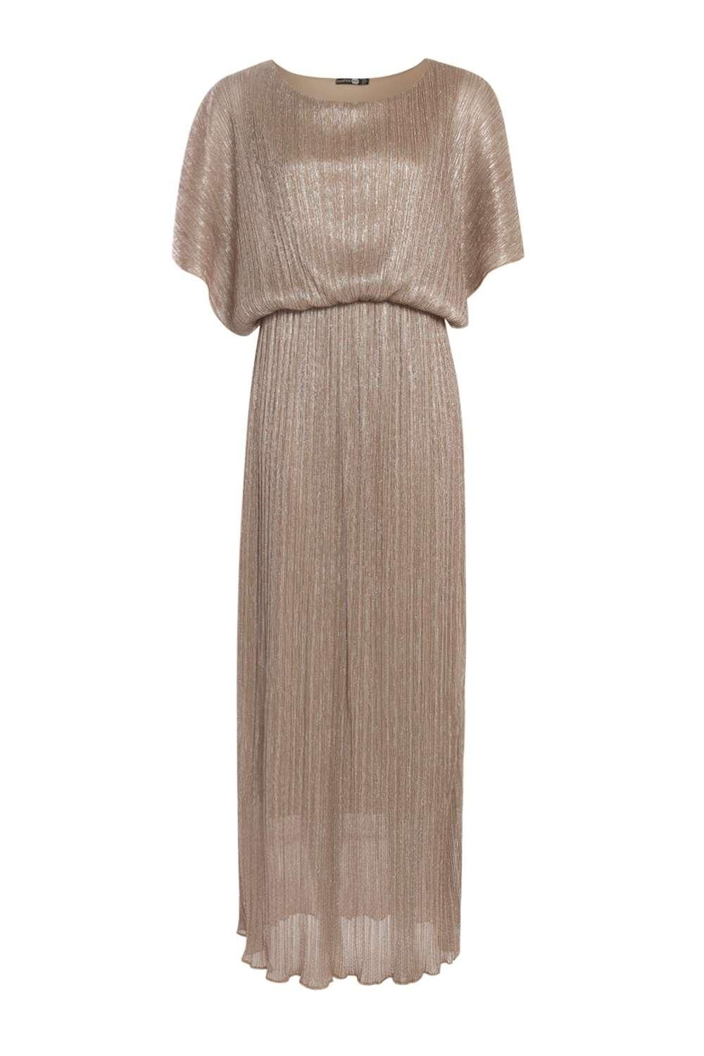 788992fdc8 Millie Metallic Pleat Maxi Dress at boohoo.com