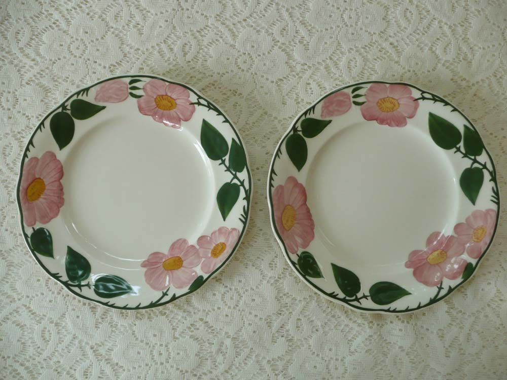 Set Of Two Vintage Villeroy Boch Wild Rose Dessert Salad Bread Plates 1748 By Mossycottage On Etsy Dessert Salads Vintage Dessert Pretty Plates