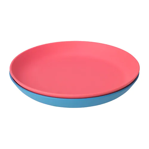 Heroisk Plate Blue Light Red 7 Ikea Light Red Plates Blue Plates