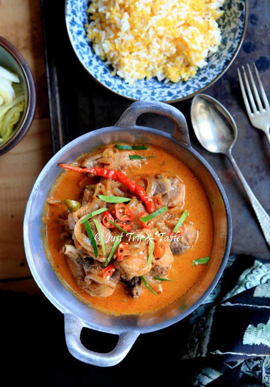 Resep Kari Ayam Merah A La Thai Masakan Thailand Masakan Resep Makanan