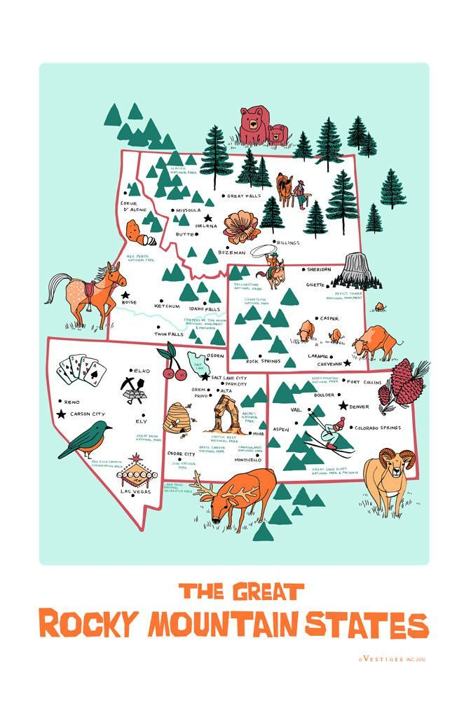 The Rocky Mountain States Region Kitchen Towel Products Mountain