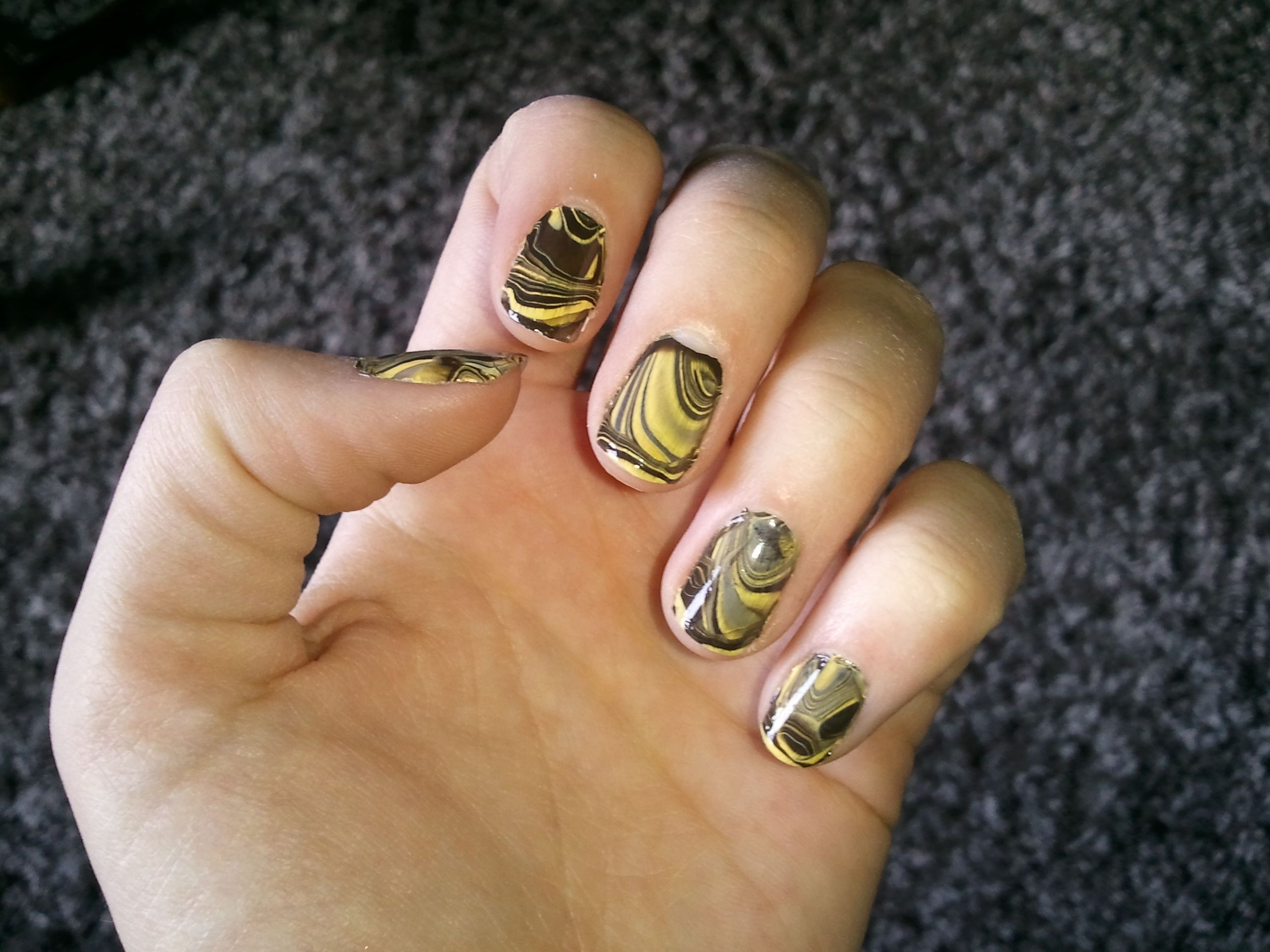Marbled nails takes way too long great pinterest