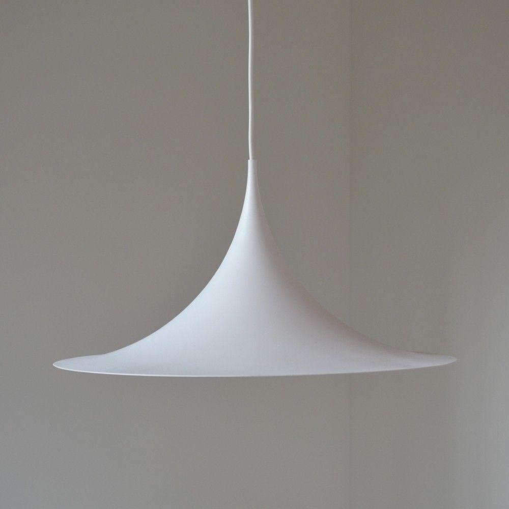 Semi trumpet pendant hanging lamp by Claus Bonderup