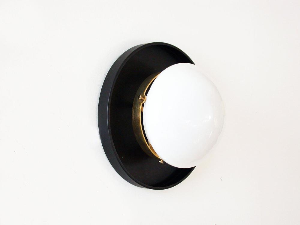 Photo of Minimalist black and white light Corridor lighting Flush-mounted wall light Matt black washbasin light Bathroom light Globe lamp