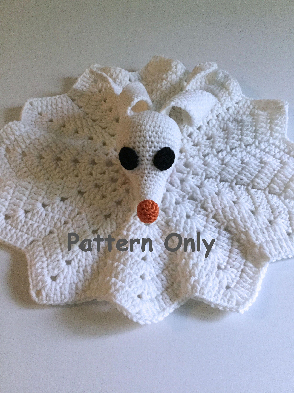 Nightmare Before Christmas Crochet Blanket.Pattern Only Crochet Zero Lovey Nightmare Before