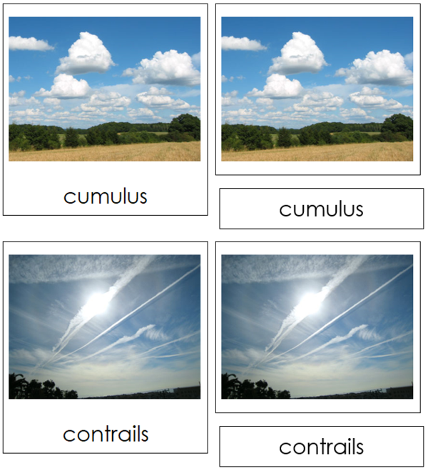 Cloud Nomenclature Cards Clouds Weather Cards Weather