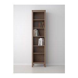 hemnes bibliotheque gris brun ikea