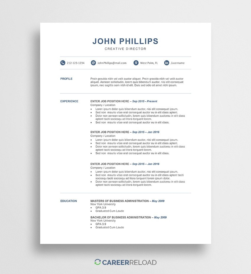 Resume Maker Word Free Download Resume Maker Word Free