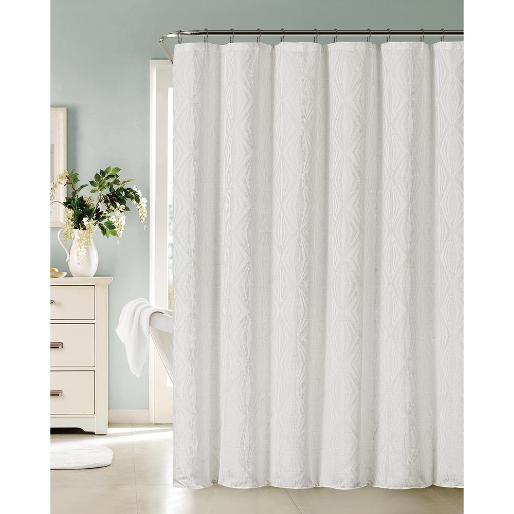 Dainty Home Romance 72 In White Shower Curtain Shower Curtains