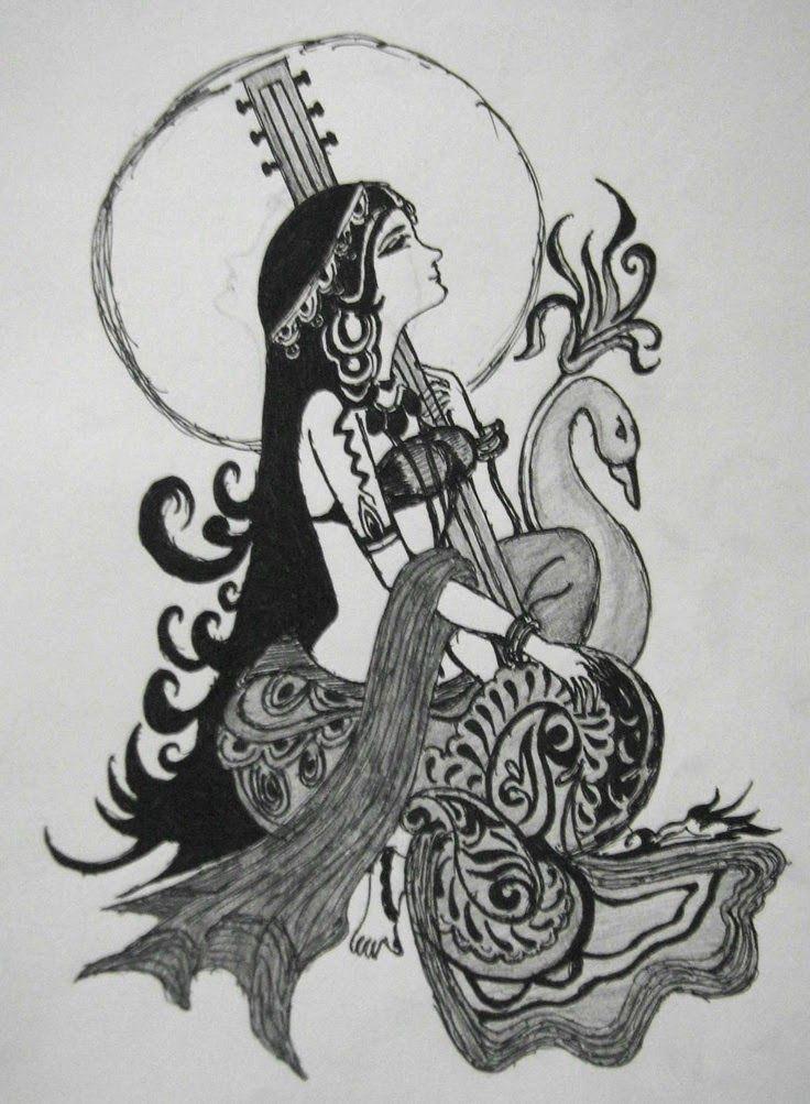 Goddess Saraswati Devi Saraswati Goddess Of Knowledge Arts Rpg