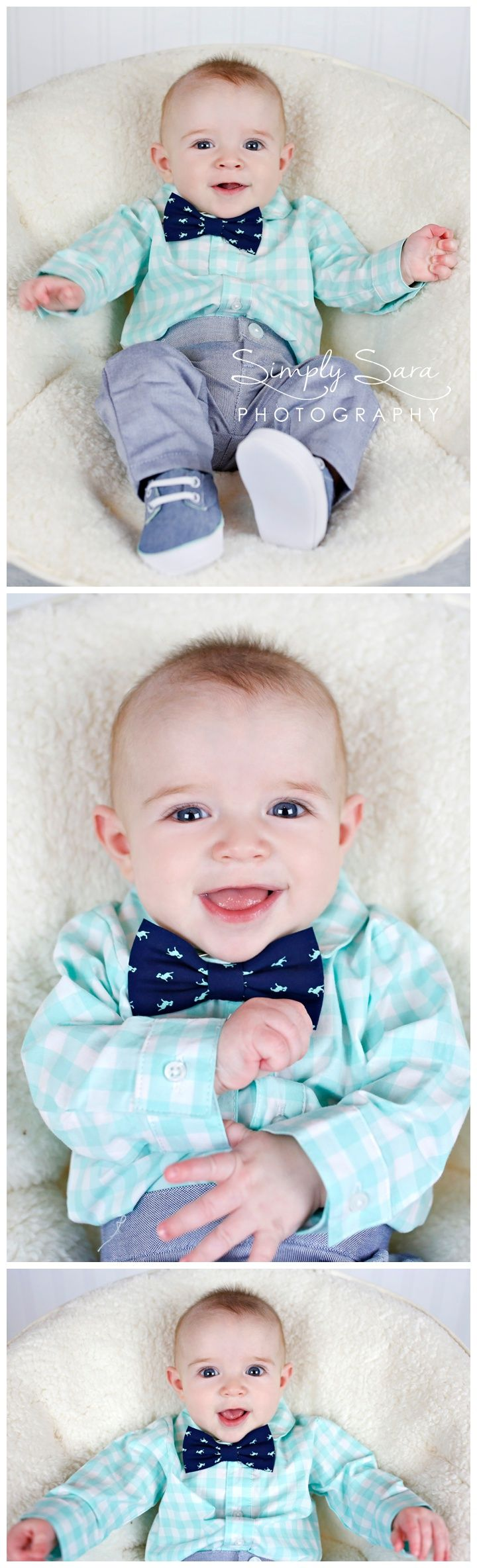 Indoor Photo Ideas Poses 4 Month Old Baby Boy Bow Tie