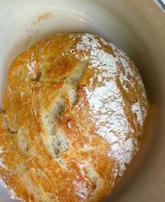 FOOL PROOF NO KNEAD BREAD -   •1 1/2 cups luke-warm water  •1/2-1 tsp yeast -•1-2 tsp sea salt   •3 cups all-purpose flour