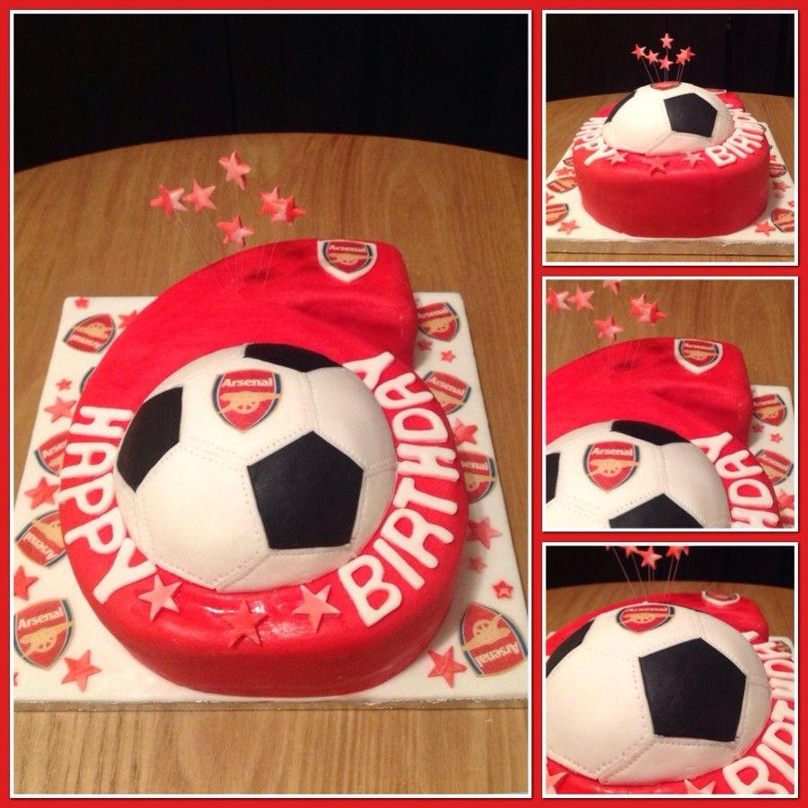 Arsenal Themed Birthday Cake Noahs birthday Pinterest Arsenal