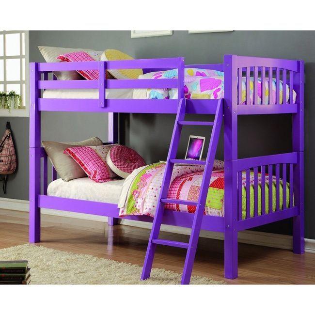 Donco Kids Grapevine Twin Over Twin Grape Finish Bunk Bed Grape