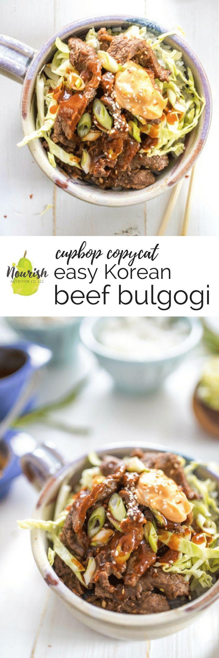 Korean Beef Bulgogi   Recipe   Bulgogi, Beef, Food recipes