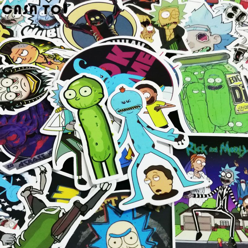 20 Off 50pcs Rick And Morty Waterproof Anime Sticker For Guitar