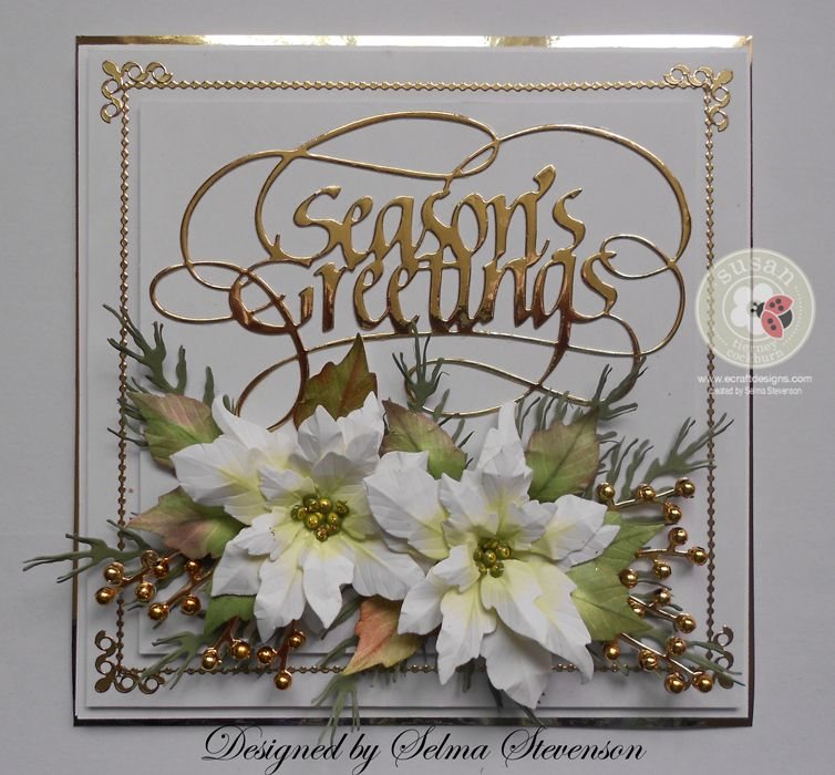 White Poinsettias by Selma - Cards and Paper Crafts at Splitcoaststampers