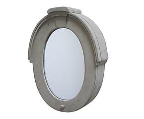 Miroir, bois et verre - gris
