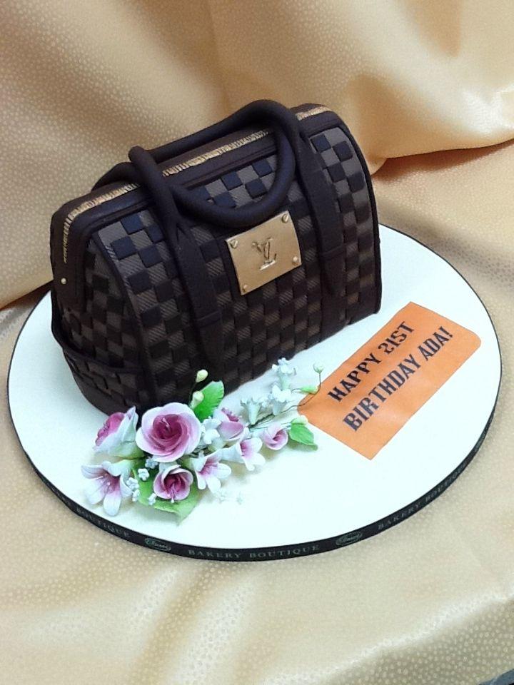 Custom cakes in Brooklyn Louis Vuitton cake by Duet Bakery