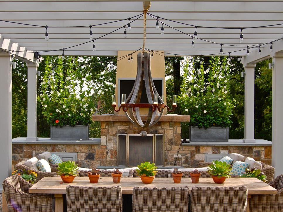 16 Budget Friendly Outdoor Lighting Ideas Hgtv Gazebo Lighting Outdoor Chandelier Diy Outdoor Lighting