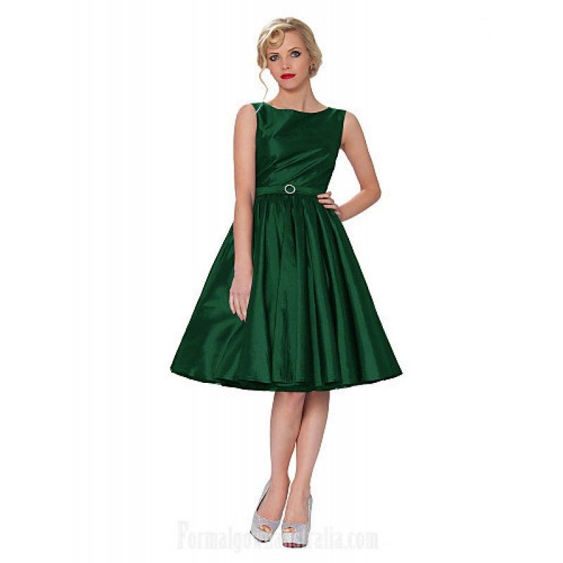 Dark Green Cocktail Dress Plus Size