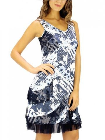 TANGO MANGO DRESS, BLUE PRINT