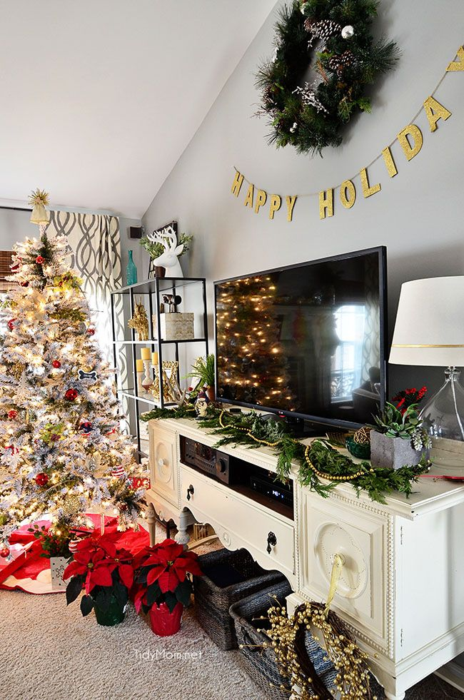 Holiday Home Tour Best Of Pinterest Pinterest Christmas